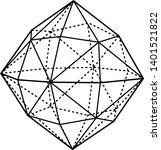 a diagram of hexakistetrahedron ...   Shutterstock .eps vector #1401521822