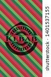 kebab christmas emblem. vector...   Shutterstock .eps vector #1401537155