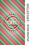 blackjack christmas badge....   Shutterstock .eps vector #1401537335