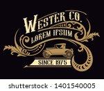victorian logo template wirh...   Shutterstock .eps vector #1401540005
