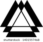 linked triangles. abstract... | Shutterstock .eps vector #1401557468
