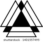 linked triangles. abstract... | Shutterstock .eps vector #1401557495