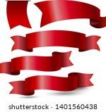 red ribbon on white background... | Shutterstock .eps vector #1401560438
