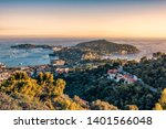 french riviera coastline in... | Shutterstock . vector #1401566048