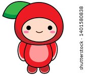 cute baby fruit vector clipart... | Shutterstock .eps vector #1401580838