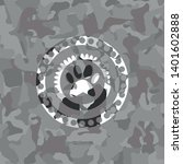 paw icon on grey camouflaged...   Shutterstock .eps vector #1401602888