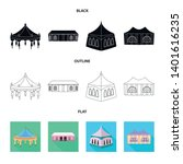 isolated object of roof and...   Shutterstock .eps vector #1401616235
