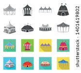 vector illustration of roof and ...   Shutterstock .eps vector #1401619802