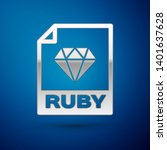 silver ruby file document icon. ... | Shutterstock .eps vector #1401637628