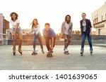 cool teen friends. happy... | Shutterstock . vector #1401639065