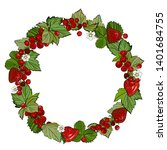 round frame  a wreath of... | Shutterstock .eps vector #1401684755