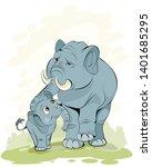 vector illustration of a mother ...   Shutterstock .eps vector #1401685295