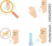 allergies flat design long... | Shutterstock .eps vector #1401690392