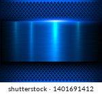 metallic background blue 3d... | Shutterstock .eps vector #1401691412