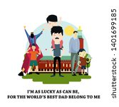 happy father's day celebration... | Shutterstock .eps vector #1401699185