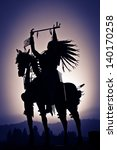 a silhouette of a native... | Shutterstock . vector #140170258