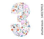 colorful school number...   Shutterstock .eps vector #140170915