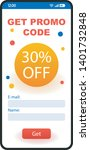 promo code smartphone interface ...