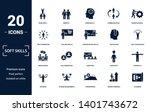 soft skills icons set... | Shutterstock .eps vector #1401743672