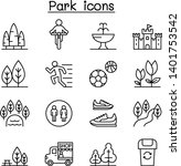 park icon set in thin line style   Shutterstock .eps vector #1401753542