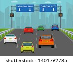 highway traffic condition in... | Shutterstock .eps vector #1401762785