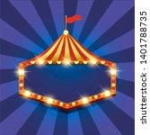 circus banner. carnival banner. ... | Shutterstock . vector #1401788735