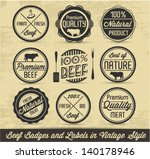 meat and beef badges and labels ... | Shutterstock .eps vector #140178946
