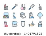 beauty related color line icon... | Shutterstock .eps vector #1401791528