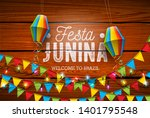 festa junina illustration with... | Shutterstock .eps vector #1401795548