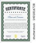 green certificate of... | Shutterstock .eps vector #1401816728