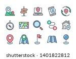 navigation related color line... | Shutterstock .eps vector #1401822812