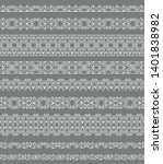 set of white borders on a gray...   Shutterstock .eps vector #1401838982