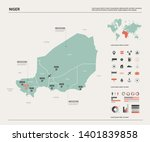 vector map of niger. country... | Shutterstock .eps vector #1401839858