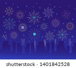 Colorful Trendy Fireworks In...