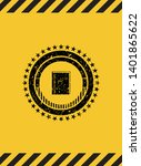 book icon black grunge emblem...   Shutterstock .eps vector #1401865622