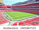 Small photo of London, England - 05.13.2019: Wembley stadium is a football stadium in Wembley. With 90,000 seats, it is the largest stadium in the UK and the second-largest stadium in Europe