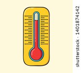 outdoor thermometer hand drawn...   Shutterstock .eps vector #1401874142