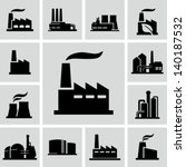 factory icons | Shutterstock .eps vector #140187532