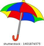 colorful umbrella on white...   Shutterstock .eps vector #1401876575