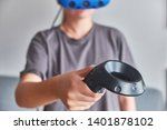 the girl in glasses of virtual... | Shutterstock . vector #1401878102