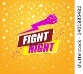 fight night vector modern...   Shutterstock .eps vector #1401885482