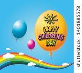 1 june international childrens... | Shutterstock .eps vector #1401885578