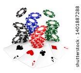 set of realistic falling poker...   Shutterstock .eps vector #1401887288