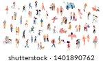 set of crowd people. vector... | Shutterstock .eps vector #1401890762