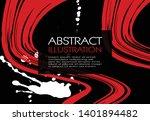 ink brush stroke background.... | Shutterstock .eps vector #1401894482