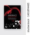 ink brush stroke background.... | Shutterstock .eps vector #1401894485