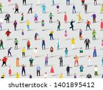 background made of lots of... | Shutterstock .eps vector #1401895412