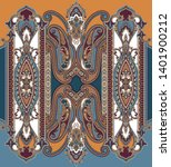 colorful seamless paisley... | Shutterstock .eps vector #1401900212