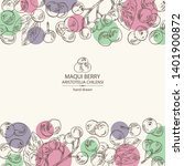 background with maqui berry ... | Shutterstock .eps vector #1401900872