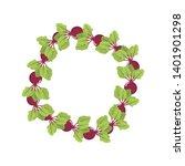 beet wreath. fresh vegetables.... | Shutterstock .eps vector #1401901298